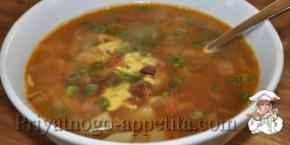Суп из мяса утки с овсяными хлопьями