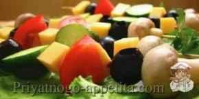 Овощи на шпажках