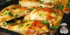Курица с грибами в духовке