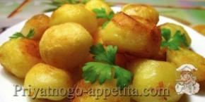 Жареный картофель из отварного