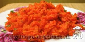 Овощной гарнир из моркови