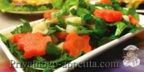 Салат из щавеля и шпината