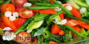 Салат из красного болгарского перца